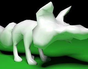 3D print model angry fox
