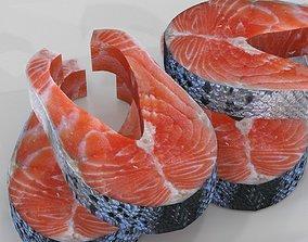 3D model Salmon stake