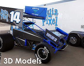 3D Model of a Sprint Car by Media Pixel