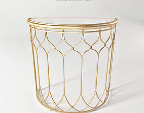 Uttermost Floressa Gold Console Table 3D