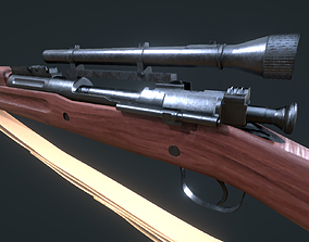 Springfield M1903 Sniper with Attachments 3D asset