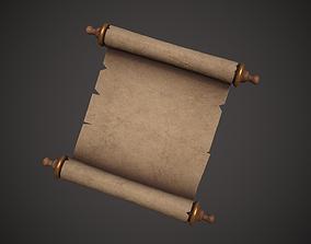Old Paper Scroll 3D model