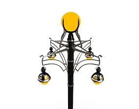 Art Nouveau Lamp Street 3D Model