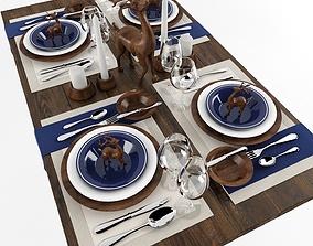 Table serving 4 3D