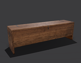 Medieval Chest 3D model realtime