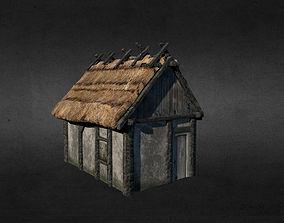 Medieval house gatehouse 3D asset VR / AR ready