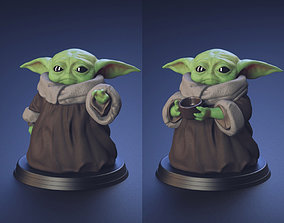 Baby Yoda - Using The Force and Drinking 3D print model 3