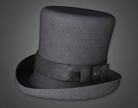 HAT - Old Top Hat - PBR Game Ready 3D asset