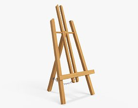 Easel wooden 3D model