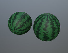 watermelon 3D asset realtime game-ready