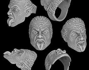 3D printable model Maori head ring