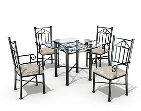 3D Kitchen Dining Set Table And Chairs