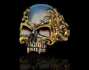 Flame skull ring biker 3D printable model