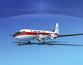 3D Douglas DC-4 Dan-Air London