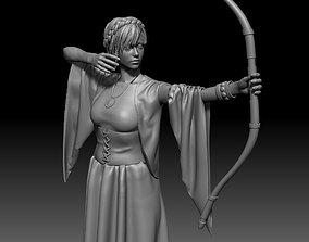 Girl Archer 3D print model