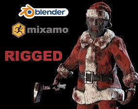 3D model rigged santa