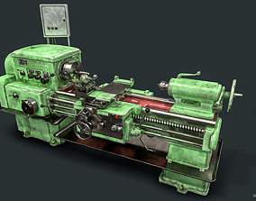 1K62 Lathe - Metalworking Machine - Soviet 3D asset 1