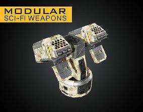 3D asset Modular Sci-Fi Weapons