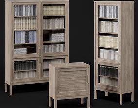 3D model Bookcase set