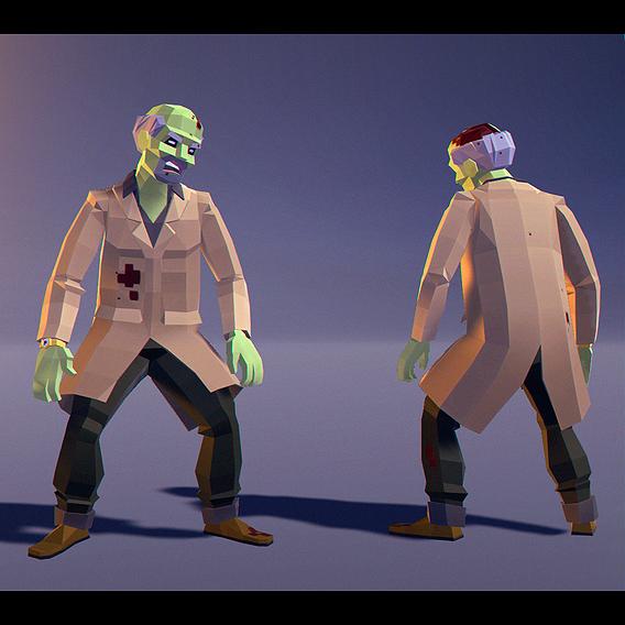 Polygonal Zombie 03