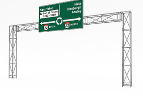 game-ready 3D Traffic Sign Model 07