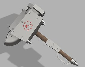 3D print model Monster Hunter Anvil Hammer Replica Cosplay