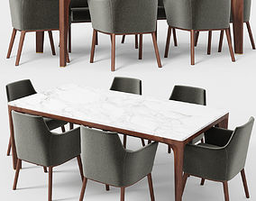 Giorgetti Alina armchair Anteo table 3D model