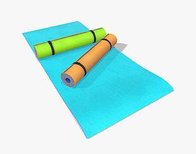 3D asset Yoga Mats lowpoly