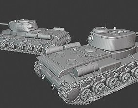 3D print model KV-85 tanks