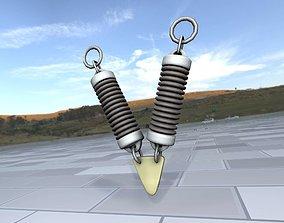 3D asset Electricity Poles Ceramic Insulator 7 - Object