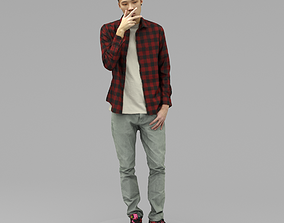 3D model A Handsome Man With Smoking Pose