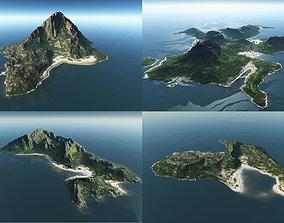 3D model Bundle of islands in Vue
