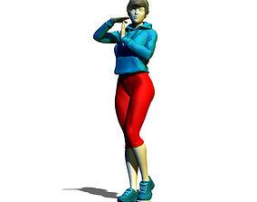 3D printable model Sportswoman