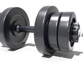 dumbbell 3D model game-ready bodybuilding