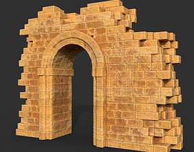Low poly Ancient Roman Ruin Construction R1 - 3D model