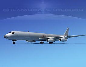 Douglas DC-8-63 Freighter Bare metal 3D
