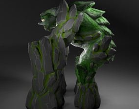 Earth Elemental 3D model rigged