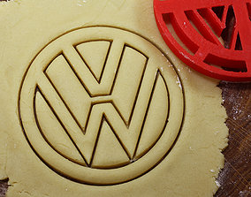 Logotype Foltsvagen cookie cutter for 3D print model