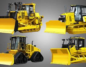 3D model Bulldozer - 4 in 1