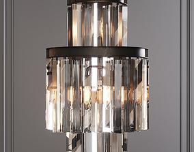 3D model RH 1920S ODEON CLEAR GLASS FRINGE SCONCE 3-TIER 1