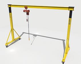 Gantry Crane 2 PBR 3D model realtime