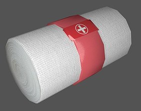 3D model Elastic Bandage Red