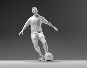 3D printable model Footballer 03 Footstrike 01 Stl