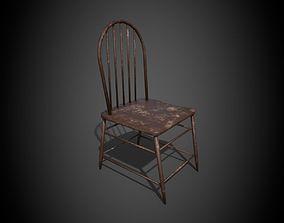 hall Chair 3D model VR / AR ready