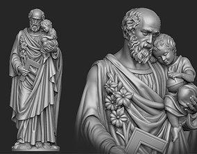 Saint Joseph Statue 3D printable model