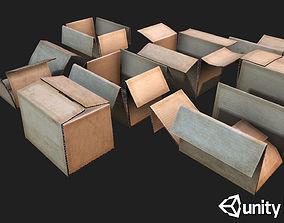 3D model Cardboard boxes Debris