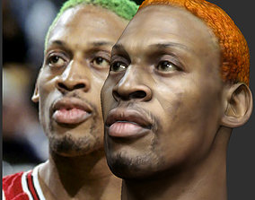 Dennis Rodman bust 3D printable model portrait