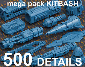 3D model Mega Pack Kitbash 500 DETAILS