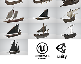 3D asset Ship Pack