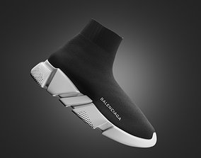 balenciaga trainers shoes 3D model